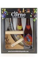La Corne Geschenkkarton 3 Flaschen & 1 Glas